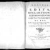 Recueil des édits, déclarations, lettres patentes, arrêts et règlements du roi registrés en la Cour du Parlement de Normandie, depuis l'année 1643 jusqu'en 1683, Rouen, Lallemand, 1774