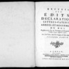 Recueil des édits, déclarations, lettres patentes, arrêts et règlements du roi registrés en la Cour du Parlement de Normandie, depuis l'année 1754 jusqu'en 1771, Rouen, Lallemand, 1774