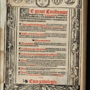Le Rouillé, Guillaume, Le Grant coustumier du pays et duché de Normendie, 1534