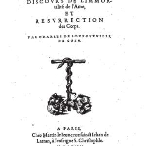 BOURGUEVILLE, Charles de, Atheomachie, 1564.pdf
