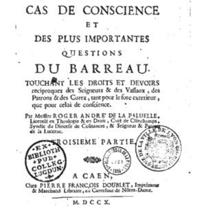 LA PALUELLE, Roger-Andr� de, R�solutions de plusieurs cas 1710 avec V.pdf
