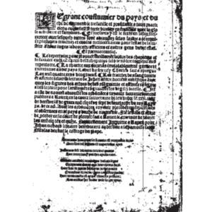 Anonyme, Le grant coustumier du pays et duché de Normendie, Rouen, Jean Richard, 1515