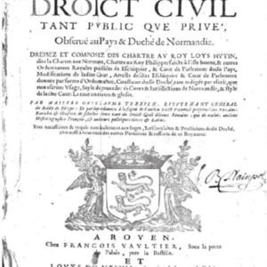 Terrien, Guillaume, Commentaire du droit civil tant public que priv�, observ� au pays et duch� de Normandie, �d. 1654.pdf