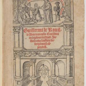 Le Rouillé, Guillaume, Justicie atque injusticie descriptionum compendium, Paris, Claude Chevallier, 1520