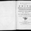 Recueil des édits, déclarations, lettres patentes, arrêts et règlements du roi registrés en la Cour du Parlement de Normandie, depuis l'année 1706 jusqu'en 1712, Rouen, Lallemand, 1774